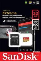 Карта памяти SanDisk MicroSDHC Extreme  32Gb Class 10 100MB/s