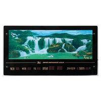 Картина с подсветкой и информационным календарем живая природа 'Животные у водопада' 70*37см 628