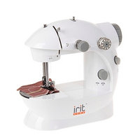 Швейная машинка Irit IRP-01, 220 В, 4хАА (не в комплекте), педаль, серая