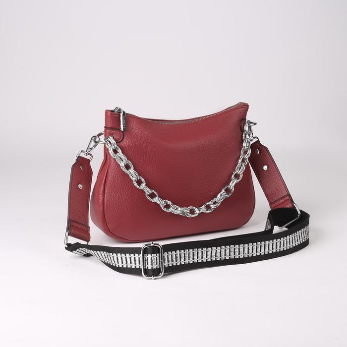 Сумка жен L-20109, 28*8*20, отд на молнии, н/карман, розовый