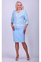 Женская осенняя голубая деловая большого размера юбка Camelia 16176 1 50р.