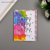 """Поздравительная открытка и конверт American Crafts """"WatercolrBday"""""""