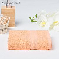 Полотенце махровое гладкокрашеное «Эконом» 50х90 см, цвет персиковый