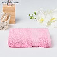 Полотенце махровое гладкокрашеное «Эконом» 50х90 см, цвет розовый