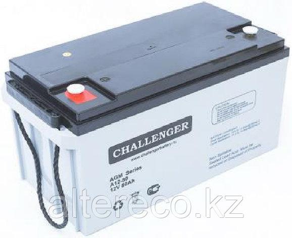 Аккумулятор для лодочного мотора Challenger A12-80 (12В, 80Ач), фото 2