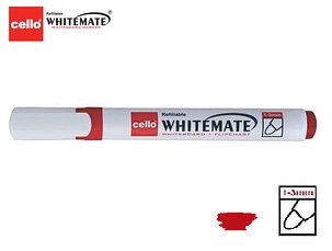 Маркер для белой доски Cello Whitemate красный, фото 2