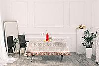 Клеенка декоративная на хлопковой основе с прозрачным ПВХ покрытием, рисунок Романтика