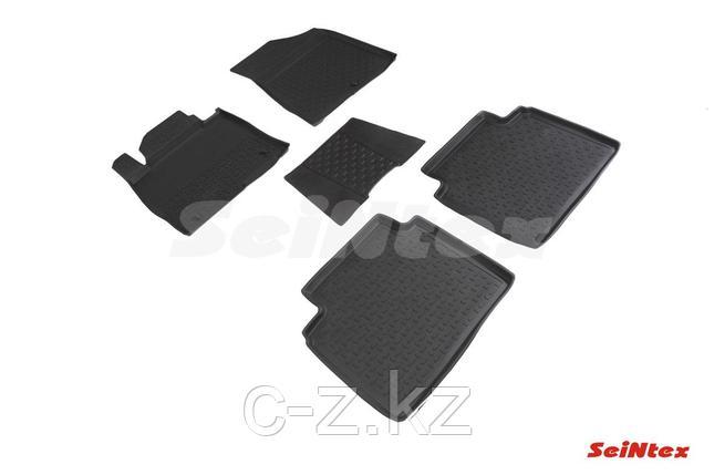 Резиновые коврики с высоким бортом для Hyundai Sonata VII (LF) (2014-2019), фото 2