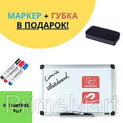 Доска магнитно-маркерная, Comix, BO6090, Настенная, 60*90 см + ПОДАРОК