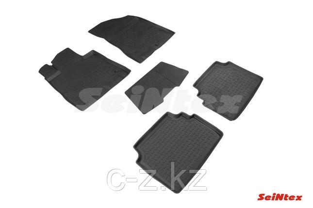 Резиновые коврики с высоким бортом для Hyundai Sonata VIII (DN8) 2019-н.в., фото 2