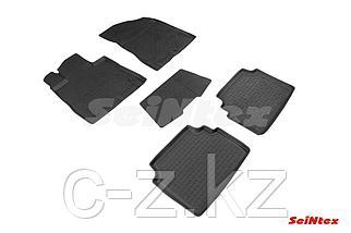 Резиновые коврики с высоким бортом для Hyundai Sonata VIII (DN8) 2019-н.в.