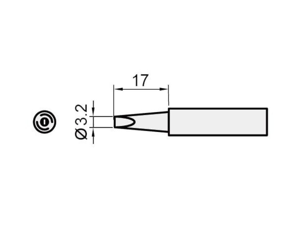 5SI-216N-3.2D Pro'sKit Жало сменное (клин 3.2 мм)