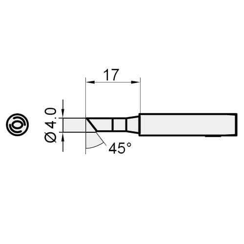 5SI-216N-4C Pro'sKit Жало сменное (скос 45 град. диам. 4 мм)