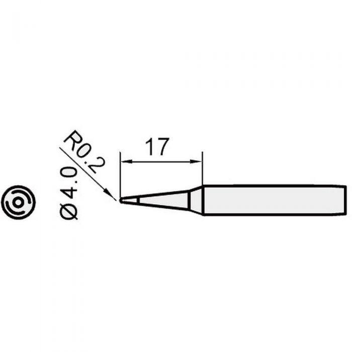 5SI-216N-I Pro'sKit Жало сменное (конус 0.2 мм, диам. 4 мм)