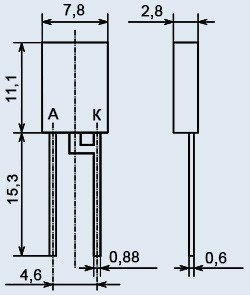 Стабилитрон КС596В2