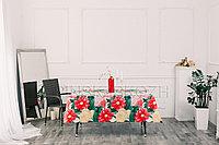 """Клеенка декоративная """"Виниллайт"""" на тканевой основе с печатным рисунком и ПВХ покрытием, рисунок Георгина"""
