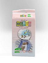 Подгузники MARTI размер M (6-11кг) 62 штуки