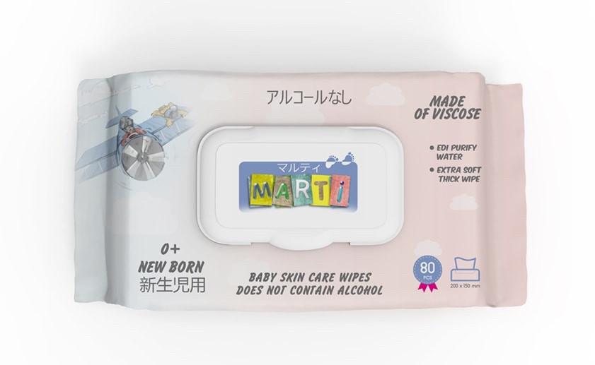 Салфетки MARTI количество 80 штук в упаковке