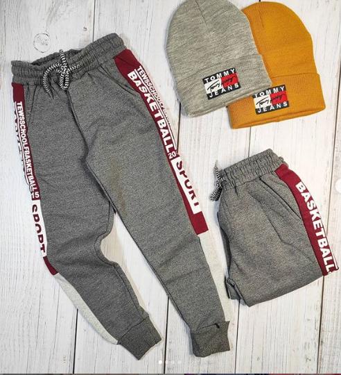 Тёплые штаны цвет серый