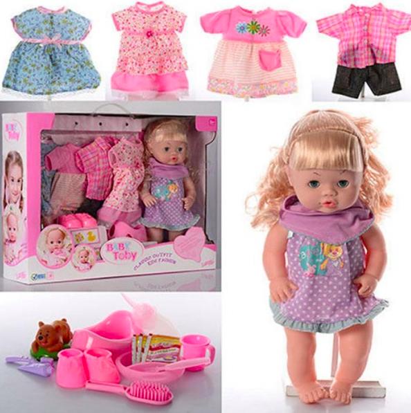 Baby Toby Пупс кукла с запасной одеждой и аксессуарами - фото 1