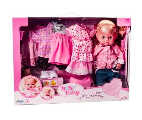 Baby Toby Пупс кукла с запасной одеждой и аксессуарами - фото 2
