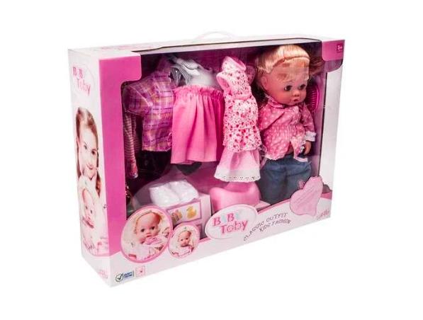 Baby Toby Пупс кукла с запасной одеждой и аксессуарами - фото 3