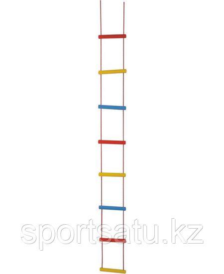 Лестница веревочная трехцветная 2,4 м к ДСК и турнику Россия