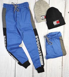 Тёплые штаныцвет синий