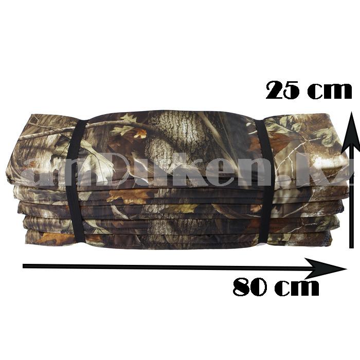Каремат туристический складной в двухсторонней расцветке на резинках 80*200 см - фото 3