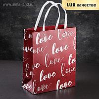 """Пакет крафт """"Любовь"""", люкс"""