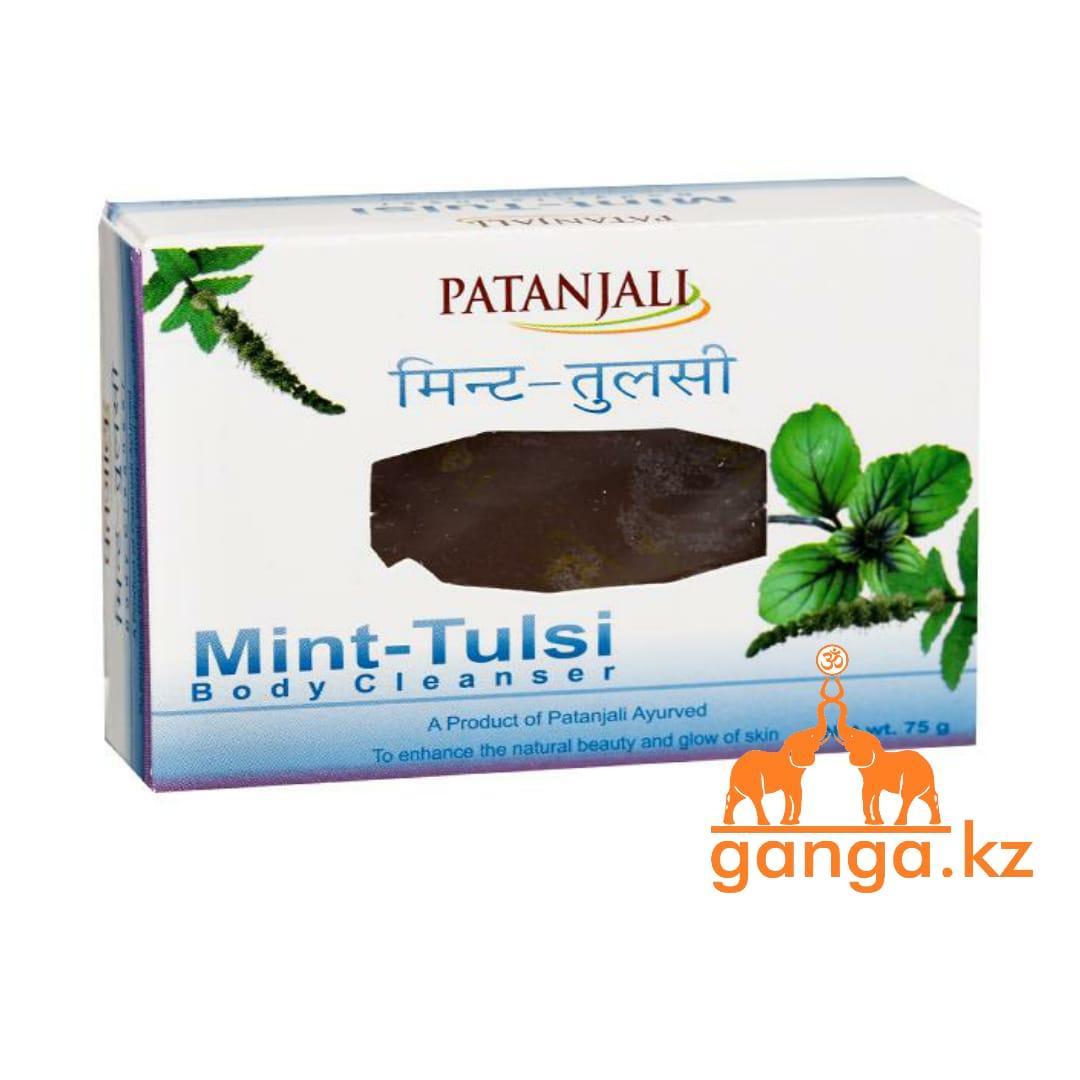 Мыло с Мятой и Тулси (Mint-Tulsi Soap PATANJALI), 75 гр