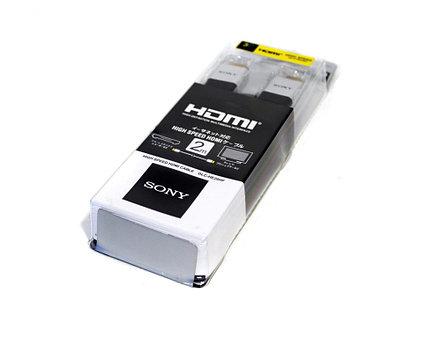 Кабель HDMI Hight Speed, Sony DLC-HE20HF, плоский, 2 м.