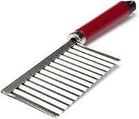 """Нож """"волна"""" для нарезки картофеля на фри и овощей, с рукояткой пластиковой"""