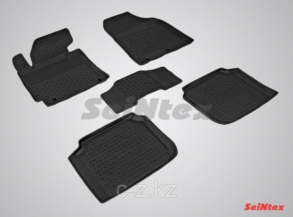 Резиновые коврики с высоким бортом для KIA Cerato 2013-2017