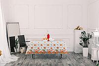 Клеенка столовая ПВХ на тканевой основе с печатным рисунком, рисунок 104 Кухонный, колорит 4