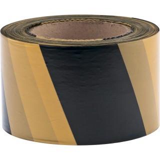 Лента сигнальная черно-желтая (длина 200м , ширина 50 мм)