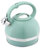 Чайник со свистком Hausroland нержавеющая сталь л с цветным покрытием