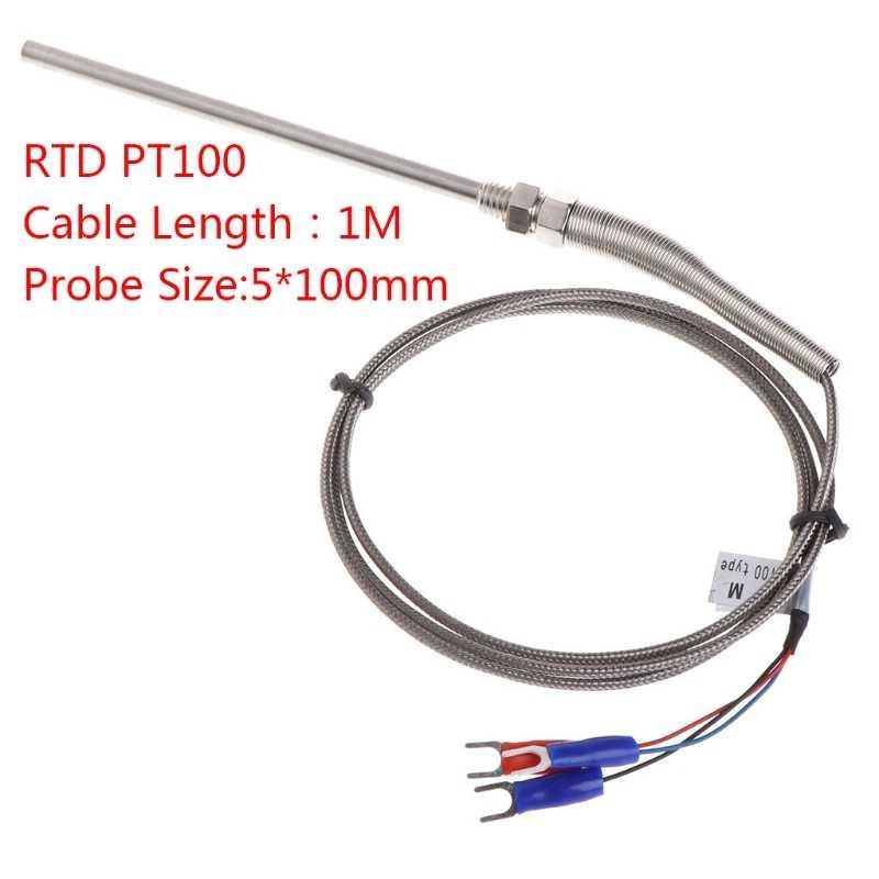 K & PT100 тип термопары зонд 1 метр провода M8 резьба датчик температуры для термостата REX-C100