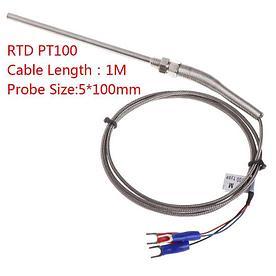 K & PT100 тип термопары зонд 3метра  провода M8 резьба датчик температуры для термостата REX-C100