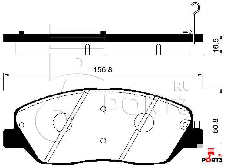 Колодки передние Hyundai Santa FE >06, Kia Sorento >09