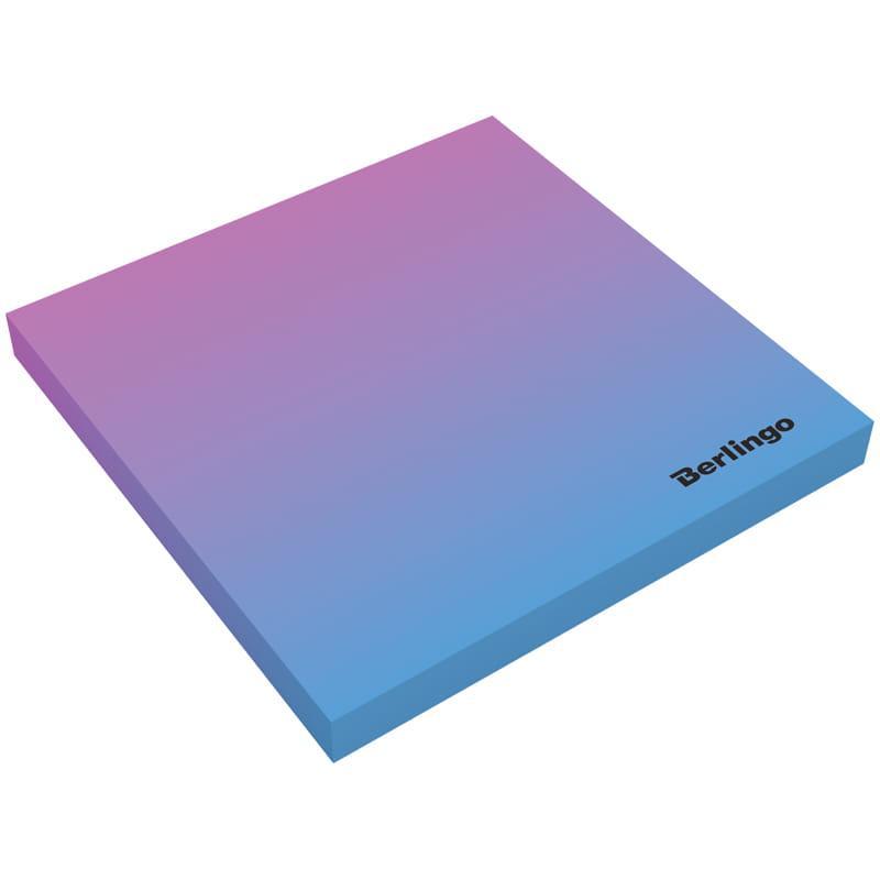 """Самоклеящийся блок Berlingo """"Ultra Sticky.Radiance"""", 75*75мм, 50л, розовый/голубой"""