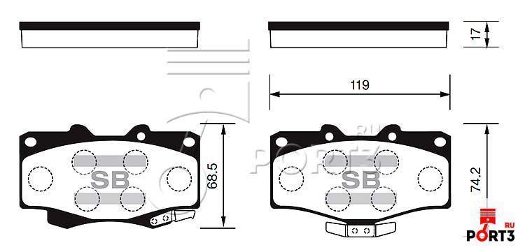 Колодки передние Toyota 4Runner 90-95