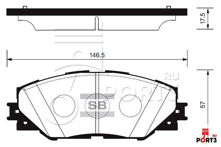 Колодки передние Toyota RAV4 >06, Matrix 2.4 >09