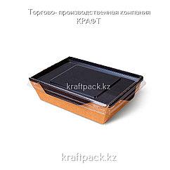 Контейнер, салатник с прозрачной крышкой  Black Edition 500мл 140*105*45 (Eco Opsalad 500 BE) DoEco (50/300)