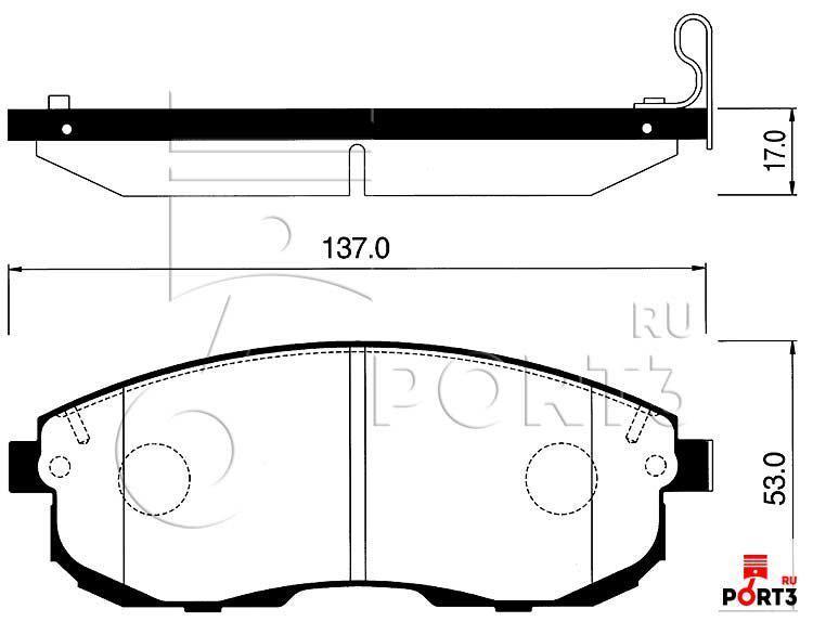 Колодки передние Nissan Maxima/Cefiro A32, Altima >95