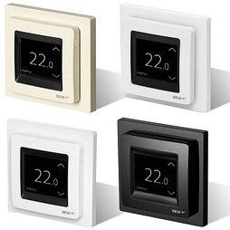Программируемый сенсорный терморегулятор DEVlreg™ Touch цвет белый без рамки