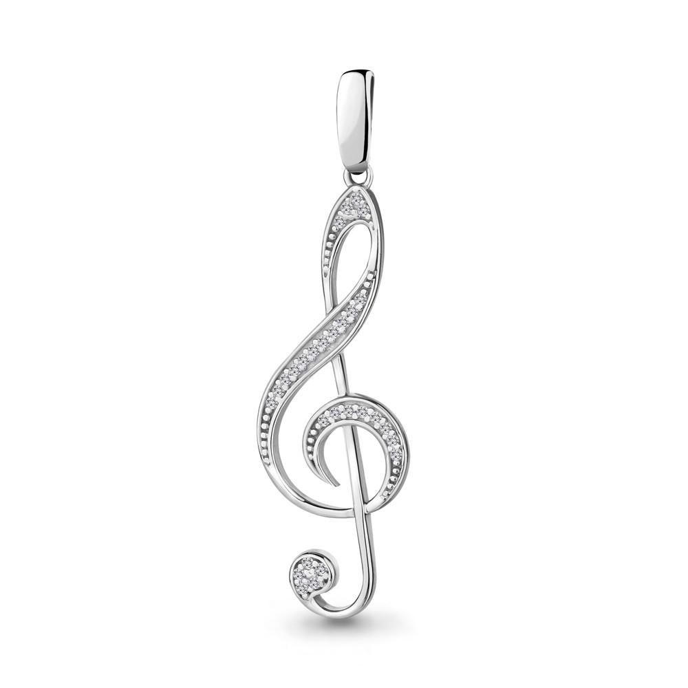 Кулон из серебра с фианитом