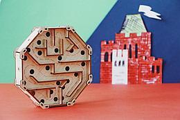 """Uniwood Деревянный конструктор-головоломка """"Лабиринт"""" Побег из замка"""