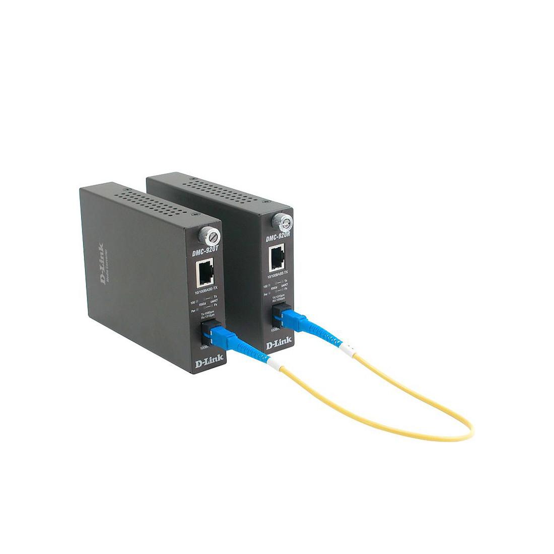 Медиаконвертер одномод WDM D-Link DMC-920T/B10A (20 км)