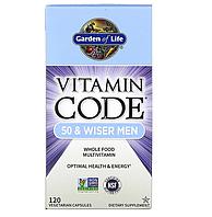 Garden of Life, Vitamin Code, для мужчин от 50, 120 вегетарианских капсул